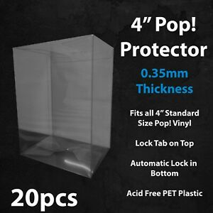 "20 x 4"" Funko Pop! Vinyl Protector Case Acid Free 0.35mm Thick"