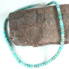 Native American Jewelry Turquoise Heishi Choker Boho Bead Necklace Navajo