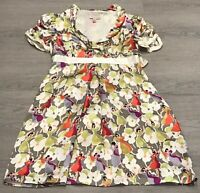 PRETTY TED BAKER SILK FLORAL PARTY OCCASION TEA DRESS Size 2 UK 10