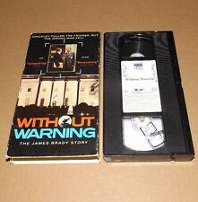 Without Warning - The James Brady Story (VHS, 1991) Beau Bridges