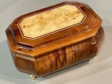 Porter Music Box Co. Jewelry Box Burl-wood, Song is Clair De Lune