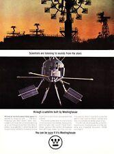 1964 Ariel II Star Sound Satellite photo NASA Westinghouse vintage print ad