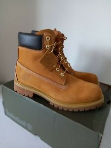 Timberland Mens Premium UK 8.5 Premium 6in Waterproof Wheat Boots . Worn once