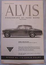 1960 Alvis 3-litre Saloon & Drop head Coupe Original advert No.3