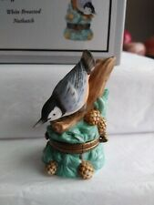 Phb Midwest of Cannon Falls Trinket Box White Breasted Nuthatch Limited Edition