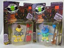 1991 Dreamworks Bandai Little Dracula Werebunny & Maggot Action Figure MOC Pair
