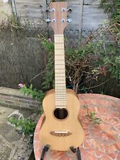 Tenor Ukulele Walnut and Ash Handmade in England Spruce top, Zebrano bridge.