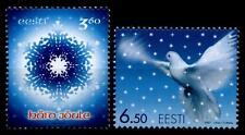 Weihnachten. Eiskristall,  Friedenstaube. 2W. Estland 2001