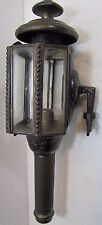 Antique Carriage Buggy Lamp 5 panel bevel edge front glass rear bracket candle