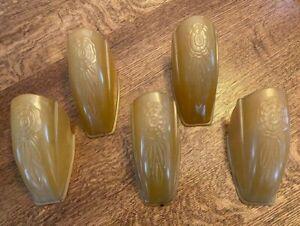 5 - ANTIQUE ORIGINAL GLASS SLIP SHADES