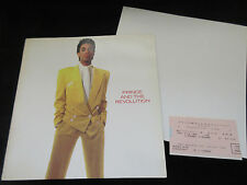 Prince 1986 World Tour Book with Ticket Stub , Japanese Sheila E Poster
