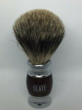 Pure Badger Shaving Brush by Slate Shave- 20m Wide Knot -Barber .