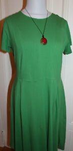 Chapati Kleid; grün; Gr.XL, toller Schnitt; Organic Cotton; Naturmode; Neu