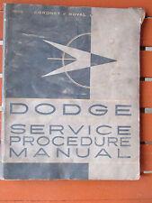 Original 1959 Dodge Car Shop Manual 59 repair service Coronet Royal Custom base