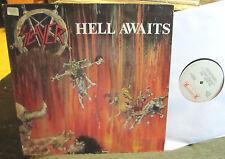 SLAYER Hell Awaits 1985 orig roadrunner LP w/inner lyric !! metallica megadeth