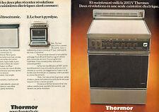 Publicité Advertising 1973 (Double page)  Cuisinière THERMOR 2011 V électrique