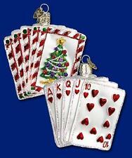 Poker Ornament Glass Royal Flush Old World Christmas 44035 2