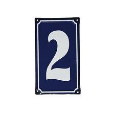 dotcomgiftshop 2 French Blue Metal Door Sign