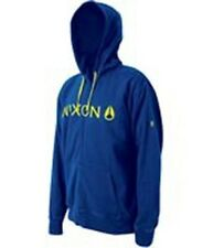 Nixon Basis Zip Hood Hoody (M) Royal / Lime