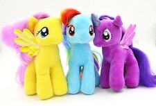 3 Pc Set Unicorn Plush Toy 18cm Yellow Blue Purple Stuffed animals rainbow dash