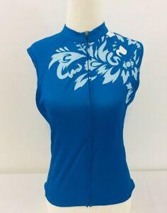 Cannondale Cycling Bike Jersey Womens Sleeveless Blue Size Small