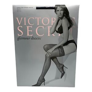 Victorias Secret Lace Top Thigh High Small Glamour Sheers Nylon Stockings 7837