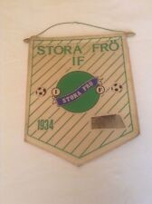 STORA FRO IF FC SWEDEN RARE ORIGINAL X-LARGE 1970'S PENNANT IN GOOD CONDITION