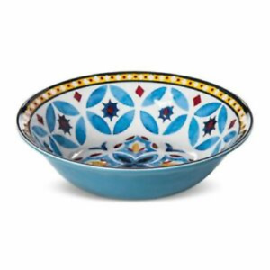 "Safi Moroccan Tile Heavyweight Melamine 7.5"" Bowl- Set Of 4"