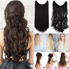 "20"" 90G Invisible halo Hair Extensions Headband Hidden Secret Wire Hairpiece AU"