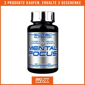 SCITEC Mental Focus 90 Kapseln Tyrosin Koffein Acetyl L-Carnitin Pre-Workout