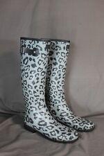 Hunter Original Leopard Print Tall Waterproof Rain Boots Women's US Size 10
