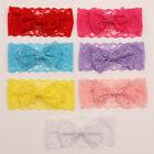 7PCS Toddler Girls Kids Baby Lace Bow Headband Hairband Stretch Head Accessories