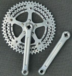 """Zeus Competition  70's Drilled Rings Crankset 170 52/44.  9/16""""×20 Thread"""