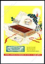 1937 Perfectos Cuban cigar box art Havana Cuba tobacco commission print ad