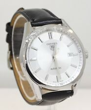 MEN'S TAG HEUER CARRERA AUTOMATIC WATCH! W/ LEATHER BAND #U22