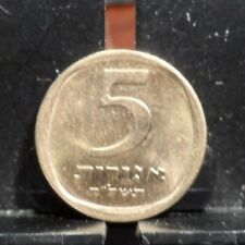 CIRCULATED DATE ? 5 AGORA ISRAELI COIN (121017)1.....FREE SHIPPING!!!