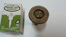 Nos Vintage Rain Jet Brass Sprinkler 61C 1/4 Circle