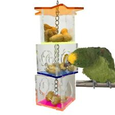 Bird Parrot Feeder Cage Bird Chewing Toys Food Holder Cage Accessories Hanging