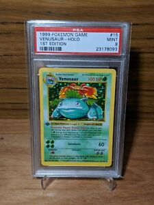 1999 Pokémon Card Base 1ST EDITION Venusaur Holo 15 / 102 PSA 9 MINT