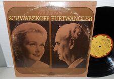 1971 SCHWARZKOPF FURTWANGLER 1953 SALZBURG WOLF SONGS SERAPHIM MONO LP NM-