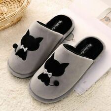 Cute Black Cat Plush Slippers Pussy Warm Winter Slippers for Women Us4-8