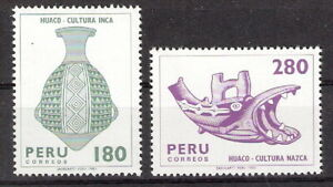 Peru 1982 Inca Artifacts Vase Heads Some High Values MNH (SC# 749, 749B)