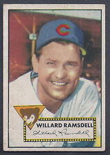 1952 Topps #114 Willard Ramsdell Pitcher Chicago Cubs VG -