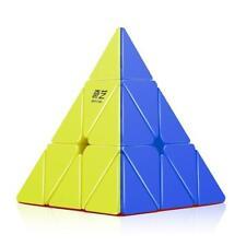Qiyi Pyraminx Stickerless Speed Cube Triangle Magic Cube Puzzle Toys 3x3 Twist