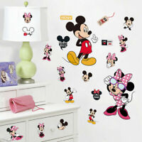 Mickey Mouse Minnie Wall Stickers Removable Decals Kids Boy Girl Nursery Decor