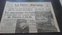 JOURNAUX LE PETIT PARISIEN N°23.327 LUNDI 20 JANVIER 1941