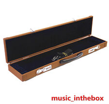 New Enhanced Brown Wooden 8-Bow Case - Fit 4/4 violin/viola/cello bows