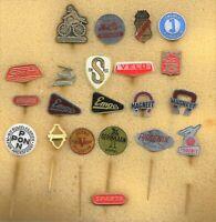 20 different dutch badges / stickpins of bicycle brands: Empo Gazelle Magneet +