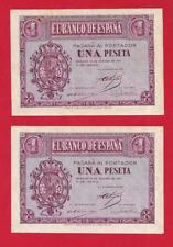 PAREJA CORRELATIVA DE UNA PESETA 1937 SERIE-C SC