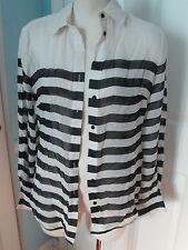 bebe black white blouse xs                        #54